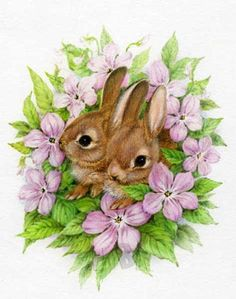 Rabbit Drawing, Rabbit Art, Easter Art, Easter Crafts, Easter Decor, Easter Ideas, Easter Eggs, Christmas Greeting Cards Images, Christmas Greetings