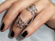 Big Rings, Cute Rings, Black Rings, Chain Rings, Black Jewelry, Cute Jewelry, Jewlery, Hand Jewelry, Body Jewelry