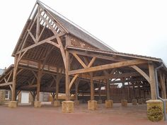 Looking for timber frame companies? Timber framed buildings by Carpenter Oak Ltd, experts in timber framed construction & timber frame commercial buildings. Timber Frame Homes, Timber House, Timber Frames, Oak Framed Buildings, Timber Buildings, Timber Architecture, Timber Structure, Roof Trusses, Rustic Home Design