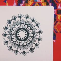 Drawing these are such a destresser. Mandala drawn in my 5x5 sketchbook, with micron pens.