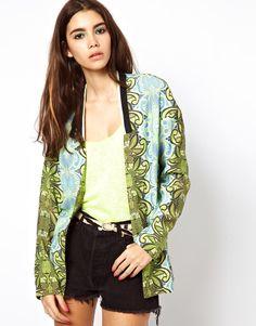 african printed jacket - asos