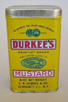 Durkee Mustard Tin
