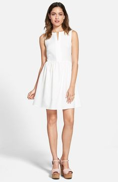 EVERLY 'Rowan' V-Neck Skater Dress available at #Nordstrom