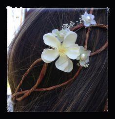 Rustic Vine Bridal Hair Garland Wild Flower by TheOriginalTwig, $49.00