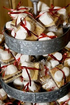 Hand wrapped smores for the bonfire we had going outside in front of the barrn, Great idea fpr a fast moving groud. Barn Parties, Camping Parties, S'mores Bar, Bbq Bar, Sweet 16 Parties, Halloween Party, Halloween Wedding Favors, Party Planning, Party Time