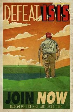 Join the NEW Trump Corps, golfing lessons not included....