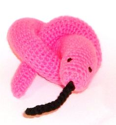 Cat Toy Catnip Snake Hot Pink by forpawsandhome on Etsy, $9.00