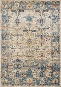 Loloi Anastasia Area Rug - This Sand - Light Blue rug is an excellent choice for your house. Find out why many others prefer to buy from RugStudio Modern Color Palette, Modern Colors, Carpet Runner, Rug Runner, Light Blue Area Rug, Traditional Rugs, Rugs Online, Textiles, Rug Making