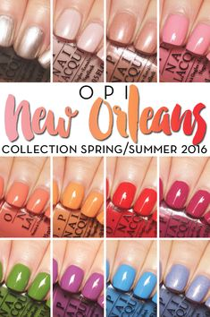 OPI New Orleans collection spring summer 2016