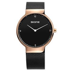 Men Watch Steel Band Quartz Rose Gold Waterproof Simple Casual Classic Male Wristwatches Horloges mannen Gift Relojes Kol saati