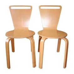 Thonet Series C Plywood Chairs - Set of 4