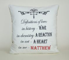 Definition of love cushion