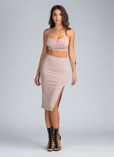 Simply The Best Crop Top And Skirt Set GoJane.com