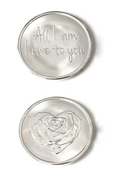 Mi Moneda Large Silver Owe to You & Rose