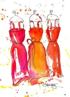 Belle of the Ball: whimsical watercolor print by Laura Trevey