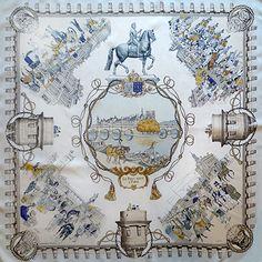 luxury-scarves.com 'Le Pont Neuf à Paris', Philippe Ledoux. 1964