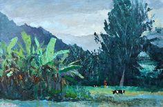 Cow Pastures (87) | by Peter Hayward (1905-1993) #PeterHayward #Oil #CedarStreetGalleries