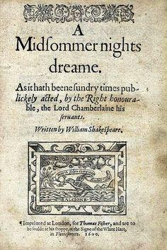 Midsummer Nights' Dream Shakespeare
