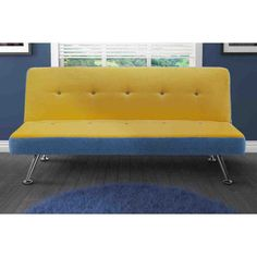 DHP Junior Minion Yellow Microfiber and Futon Futon Sofa Bed, Couch, Home Furniture, Furniture Design, Best Futon, Mattress, Love Seat, Upholstery, Living Room