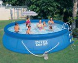 Intex Easy Set Pool Set, 15-Feet by 42-Inch, Blue. FREE DELIVERY $266.56.  Easy Set pool set includes a set-up DVD, 1000 gallon per hour Easy Set pool water filtration pump, filtration pump water filter cartridge. No tools needed for setup. Tough and durable. Buy now http://goodsarbitrage.ca/index.php?page=shop.product_details&flypage=shop.flypage&product_id=1006951&category_id=368224&manufacturer_id=0&sku=612213003&option=com_virtuemart&Itemid=1