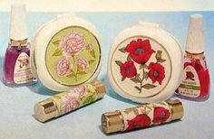 Avon 'Flower Prints' Lipstick, Nail Polish & Powder Compacts, 1967-68