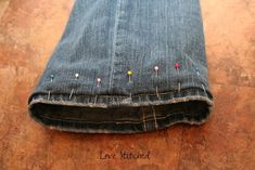 How to hem jeans without cutting them
