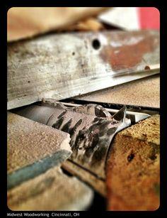 Shaper blade in joiner.