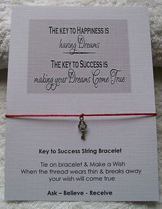 Wish string Inspiration Bracelet - key to success