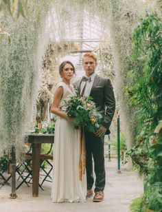 Naturalist greenhouse inspiration shot by  Molly Gilholm Photography