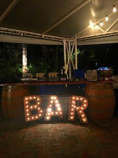 Pop-up bar, rustic, bar light , wine barrels, wood, events