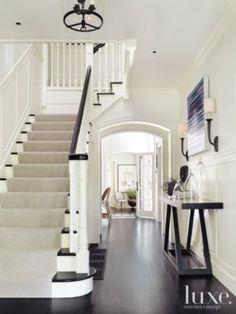 ebony oak floor, stair tread & handrail