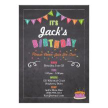 This bright and cheery invitation is great for boys and girls of all ages.  It's festive colors set the mood for your child's special day. Check out our matching items!