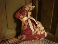 Antique Quilt Back Rabbit