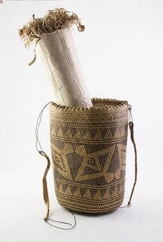 Pacific & African Artefacts n\Finely Woven Shoulder Basket and two Tapa pieces / MAD on Collections - Browse and find over 10,000 categories of collectables from around the world - antiques, stamps, coins, memorabilia, art, bottles, jewellery, furniture, medals, toys and more at madoncollections.com. Free to view - Free to Register - Visit today. #Pacific #Artefacts #MADonCollections #MADonC
