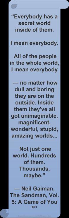 ♥ Neil Gaiman ♥ ~ #Quote #Author #Self