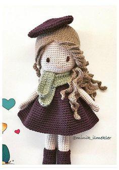 Amigurumi játékszer a kezüket vk Crochet Doll Tutorial, Crochet Doll Pattern, Knitted Dolls, Crochet Dolls, Handmade Baby, Handmade Toys, Easter Crochet Patterns, Amigurumi Doll, Crochet Animals