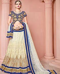 Buy Pretty Blue Lehenga Choli online at  https://www.a1designerwear.com/pretty-blue-lehenga-choli-9  Price: $161.35 USD