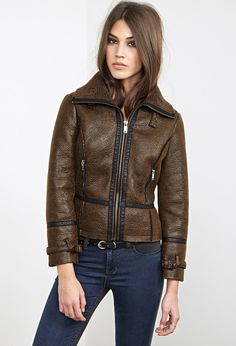 Faux Shearling Aviator Jacket | FOREVER21 - 2055879089 49.90