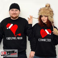 Hanorace si Bluze Cupluri - Christmas mood Christmas Mood, Mr Mrs, Christmas Sweaters, Sweatshirts, T Shirt, Fashion, Supreme T Shirt, Moda, Tee Shirt