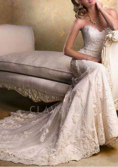 White Sleeveless Sweetheart Neckline Chapel Train Wedding Dresses wedding2716 - wedding2716 - Wedding Dresses 2018