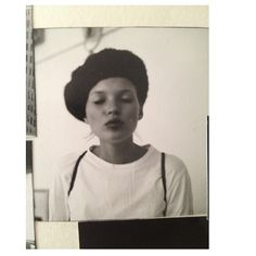 Kate Moss Polaroid beret kiss
