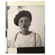 Kate Moss Polaroid beret kiss