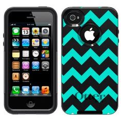 Amazon.com: Otterbox Commuter Series Chevron Turquoise and White Pattern Hybrid Case for iPhone 4  4S: Cell Phones  Accessories