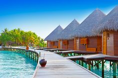 Lovely Water Bungalows Maldives Check more at http://www.jnnsysy.com/water-bungalows-maldives/