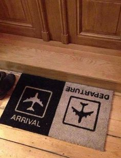 Arrival & Departure, creative doormat, you create it.
