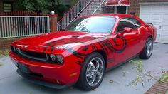 Dodge Challenger with custom tribal design *BAD ASS! Dream Cars, My Dream Car, Dodge Challenger Srt Hellcat, Dodge Srt, Car Man Cave, Smokey And The Bandit, Dodge Chrysler, Pony Car, Mustang Cars