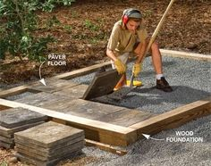 Pressure-treated lumber as Alternative to a concrete slab