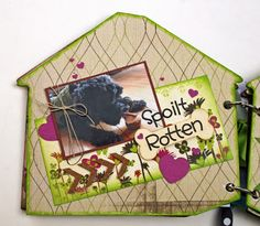Quick Quotes Just Because collection and Want 2 Scrap Dog House Mini with Pawprints Bling