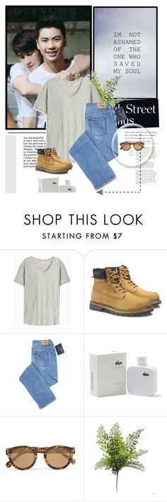 """Ohm Toey.. make it right"" by lisannevicious ❤ liked on Polyvore featuring Orlebar Brown, Caterpillar, Lacoste, Illesteva, men's fashion, menswear and makeitright"