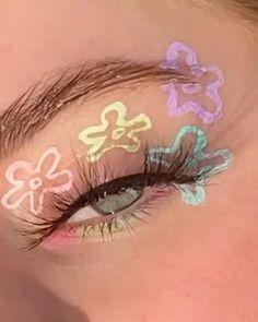Indie Makeup, Edgy Makeup, Makeup Eye Looks, Eyeliner Looks, Eye Makeup Art, No Eyeliner Makeup, Skin Makeup, Crazy Eye Makeup, Eyeshadow